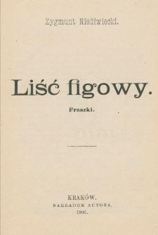 Liść figowy : fraszki