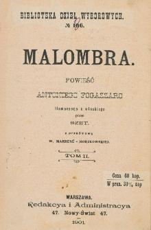 Malombra : powieść. T. 2