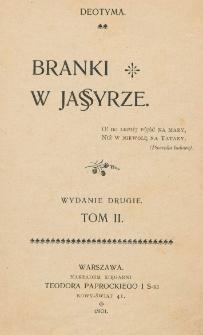 Branki w jassyrze. T. 2