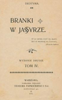 Branki w jassyrze. T. 4