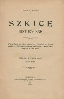 Szkice historyczne. Ser. 1