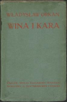 Wina i kara : tragedya w 3 aktach
