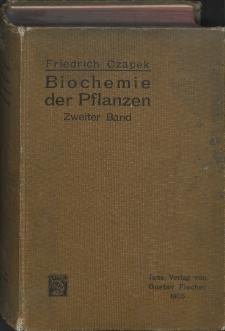 Biochemie der Pflanzen. Bd. 2