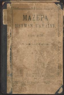 Mazepa : hetman Ukrainy : powieść