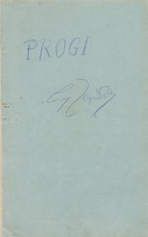 Progi, [powieść]