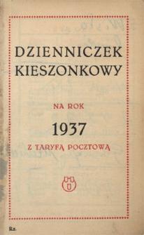 Papiery osobiste Emila Zegadłowicza. Dzienniczek kieszonkowy na rok 1937 z taryfą pocztową