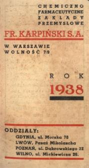 Papiery osobiste Emila Zegadłowicza. [Kalendarzyk] Rok 1938