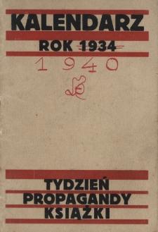 Papiery osobiste Emila Zegadłowicza. Kalendarz na rok 1934. Tydzień propagandy książki
