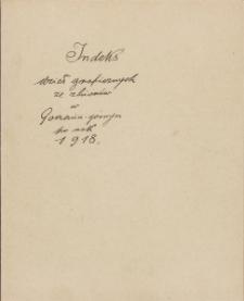 Indeks dzieł graficznych ze zbiorów w Gorzeniu Górnym po rok 1918