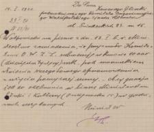 Papiery Emila Zegadłowicza dotyczące Ministerstwa Sztuki i Kultury – rękopisy pism przygotowywanych w MSiK głównie przez Emila Zegadłowicza w 1920 roku