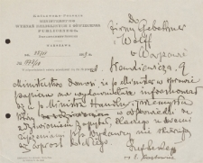 Papiery Emila Zegadłowicza dotyczące Ministerstwa Sztuki i Kultury – rękopisy pism przygotowywanych w MSiK m.in. przez referenta Emila Zegadłowicza w 1919 roku