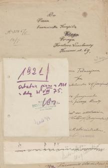 Papiery Emila Zegadłowicza dotyczące Ministerstwa Sztuki i Kultury – rękopisy pism przygotowywanych w MSiK głównie przez Emila Zegadłowicza w 1921 roku