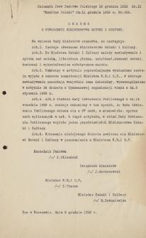 Papiery Emila Zegadłowicza dotyczące Ministerstwa Sztuki i Kultury – dokumenty związane z powstaniem i funkcjonowaniem MSiK