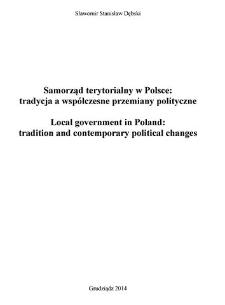 Samorząd terytorialny w Polsce : tradycja a współczesne przemiany polityczne
