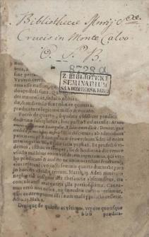 Conciones D. Jacobi Scoepperi Presbyteri ... in Epistolas & Evangelia, quae feriis Sanctorum in Ecclesia Catholica recitantur. [1] Pars Hyemalis