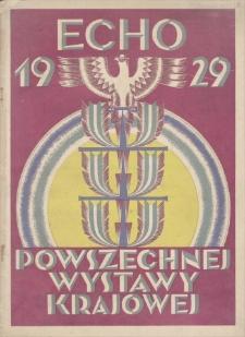 Echo Powszechnej Wystawy Krajowej w Roku 1929, R 3, 1929, nr 1 (1 I)