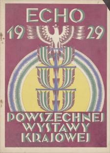 Echo Powszechnej Wystawy Krajowej w Roku 1929, R.2, 1928, nr 10 (1 X)