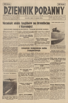 Dziennik Poranny. R. 1, 1940, nr 42 (19 IV)