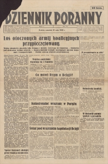 Dziennik Poranny. R. 1, 1940, nr 74 (30 V)