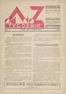 Od A do Z : tygodnik. R. 1, 1931, nr 1 (26 IV)