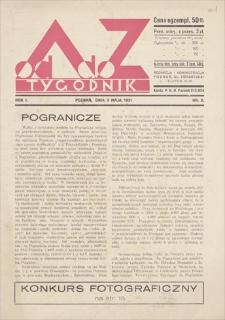 Od A do Z : tygodnik, R. 1, 1931, nr 2 (3 V)
