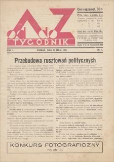 Od A do Z : tygodnik. R. 1, 1931, nr 4 (17 V)