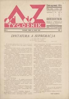 Od A do Z : tygodnik. R. 1, 1931, nr 5 (24 V)