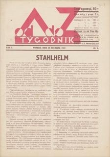 Od A do Z : tygodnik. R. 1, 1931, nr 9 (21 VI)