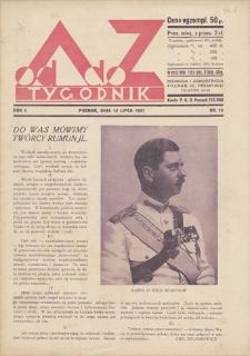 Od A do Z : tygodnik. R. 1, 1931, nr 12 (12 VII)
