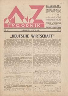 Od A do Z : tygodnik. R. 1, 1931, nr 13 (19 VII)