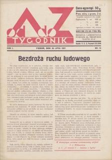 Od A do Z : tygodnik. R. 1, 1931, nr 14 (26 VII)