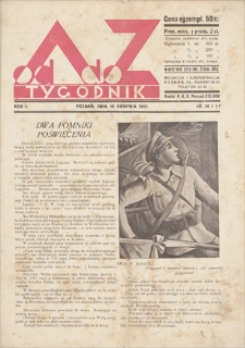 Od A do Z : tygodnik. R. 1, 1931, nr 16 i 17 (16 VIII)