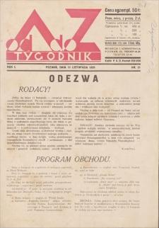 Od A do Z : tygodnik. R. 1, 1931, nr 21 (11 XI)