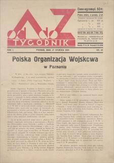 Od A do Z : tygodnik. R. 1, 1931, nr 22 (27 XII)
