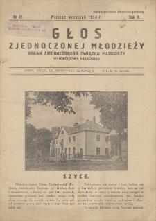 Głos Zjednoczonej Młodzieży : organ Zjednoczonego Związku Młodzieży Województwa Kieleckiego. R. 2, 1934, nr 12 (wrzesień)