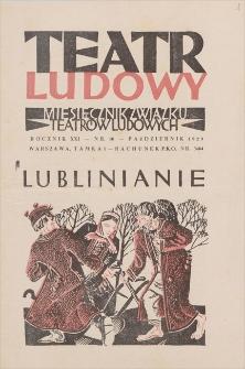 Teatr Ludowy: miesięcznik Związku Teatrów Ludowych. R. 21, 1929, nr 10 (październik)