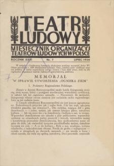 Teatr Ludowy – fragmenty z roku 1934