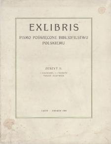 Exlibris : pismo poświęcone bibljofilstwu polskiemu. Z. 2, 1918
