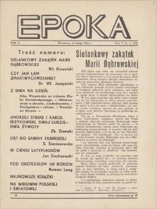 Epoka. R. 5, 1938, nr 5 (108), (15 II)
