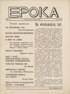 Epoka. R. 5, 1938, nr 12 (115), (25 IV)