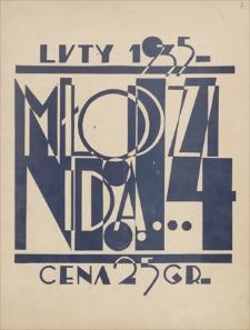Młodzi idą … : miesięcznik młodzieży szkół średnich Zagł. Dąbrowskiego. Nr 14, luty 1935