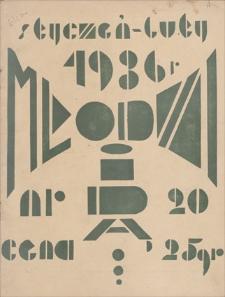 Młodzi idą … : miesięcznik młodzieży szkół średnich Zagł. Dąbrowskiego. Nr 20, styczeń-luty 1936