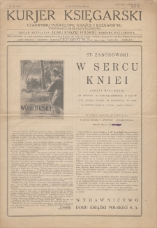 Kurjer Księgarski : czasopismo poświęcone książce i księgarstwu. R. 4, 1929, nr 71 (313), (9 listopada)