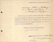 Ministerstwo Sztuki i Kultury – materiały dotyczące spraw mieszkaniowych urzędników