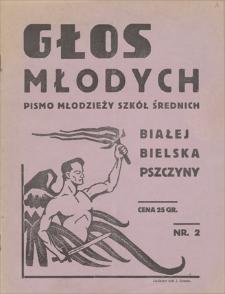 Głos Młodych : pismo młodzieży szkół średnich Białej-Bielska-Pszczyny. R. 1, 1935, nr 2 (grudzień)