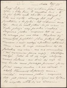 Korespondencja Emila Zegadłowicza. Listy Stanisławy Wysockiej do Emila Zegadłowicza z roku 1925