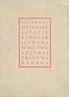 Sztuka i Praca: dwutygodnik poświęcony sprawom sztuki i kultury. R. 2, 1928, z. 21-24