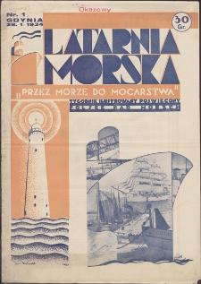 """Latarnia Morska : """"przez morze do mocarstwa"""". R. 1934, nr 1"""