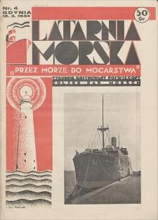 """Latarnia Morska : """"przez morze do mocarstwa"""". R. 1934, nr 4"""