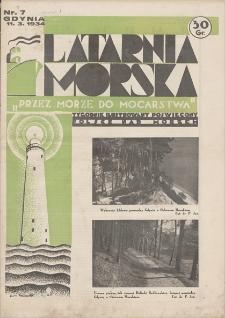 """Latarnia Morska : """"przez morze do mocarstwa"""". R. 1934, nr 7"""